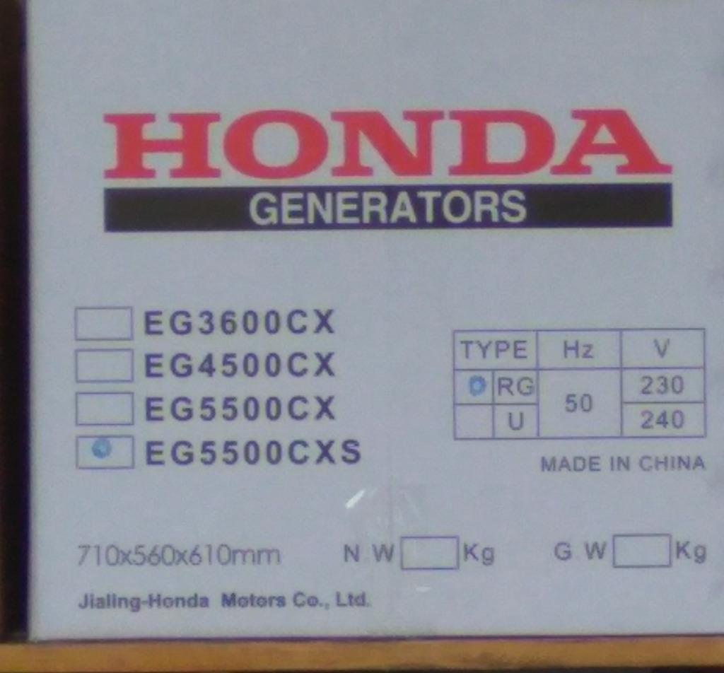 Фото коробки оригинальной Honda. Произведено в Чунцине на заводе Jialing